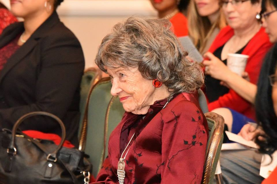 96-year-old Yoga Master Tao Porchon-Lynch at the 2015 American Heart Association Go Red Educational Panel at the NY Hilton Midtown - March 3, 2015