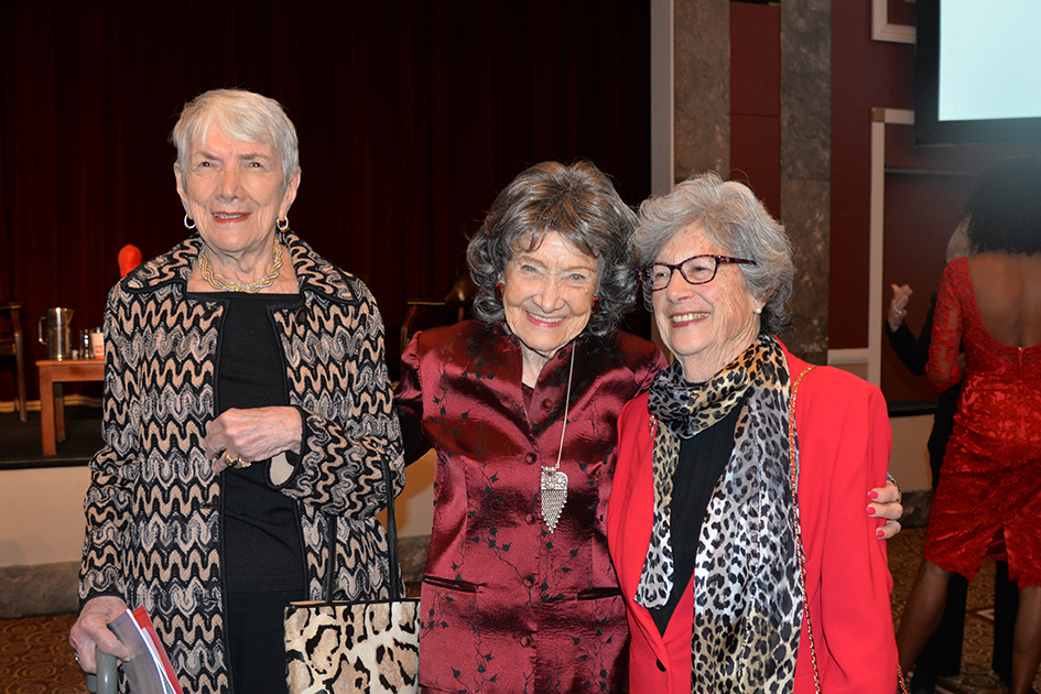 96-year-old Tao Porchon-Lynch and other ladies at the American Heart Association Go Red Luncheon