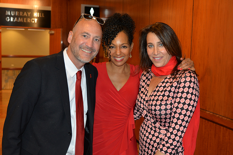 Brett Berns, Teresa Kay-Aba Kennedy, Cassie Berns at the Go Red Luncheon in New York