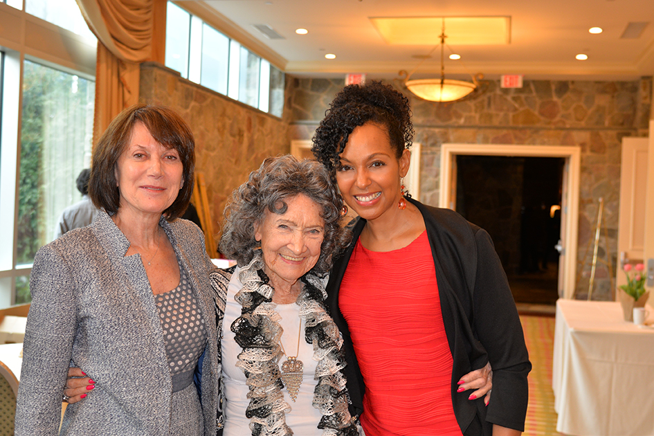 Carolyn Glickstein, 96-year-old Tao Porchon-Lynch and Teresa Kay-Aba Kennedy at the 31st Annual Women's Hall of Fame in Tarrytown, NY - 03/27/15