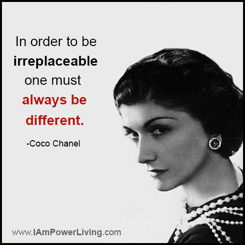 CocoChanel_Quote_Irreplaceable_PowerLivingFJ