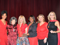 Teresa Kay-Aba Kennedy, Tao Porchon-Lynch, Dr. Suzanne Steinbaum, Dr. Icilma Fergus, Agapi Stassinopoulos, MaryAnn Browning at Go Red Luncheon