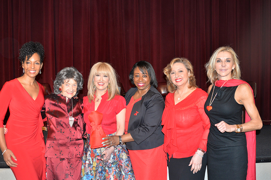 Teresa Kay-Aba Kennedy, Tao Porchon-Lynch, Dr. Suzanne Steinbaum, Dr. Icilma Fergus, Agapi Stassinopoulos, MaryAnn Browning at 2015 American Heart Association Go Red Luncheon
