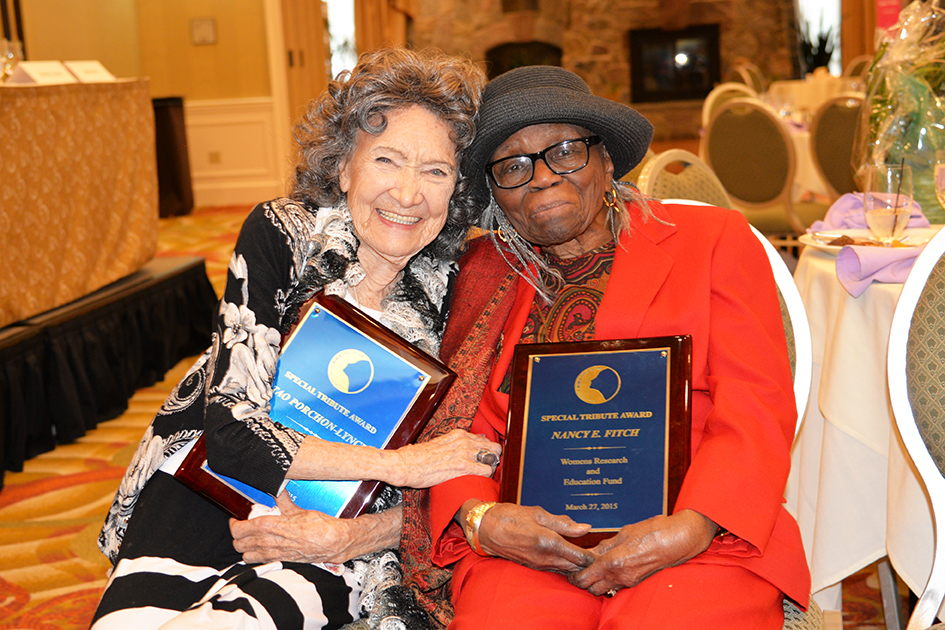 Special Tribute Honorees 96-year-old Tao Porchon-Lynch and 95-year-old Nancy E. Fitch at the 31st Annual Women's Hall of Fame in Tarrytown, NY - 03/27/15