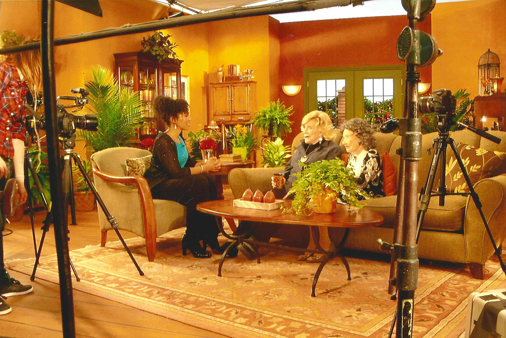 Teresa Kay-Aba Kennedy interviewing 96-year-old Yoga Master Tao Porchon-Lynch and 93-year-old TV Host and Philanthropist Suzanne Roberts