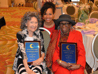 Teresa Kay-Aba Kennedy with Special Tribute Honorees 96-year-old Tao Porchon-Lynch and 95-year-old Nancy E. Fitch at the 31st Annual Women's Hall of Fame in Tarrytown, NY - 03/27/15
