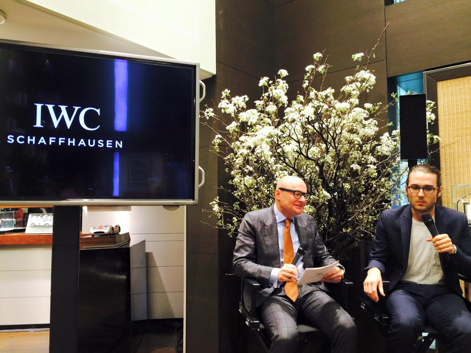 IWC CEO Georges Kern and filmmaker Jay Dockendorf at the IWC Tribeca Film reception at the IWC NY flagship store - April 15, 2015