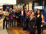 Teresa Kay-Aba Kennedy with fellow Young Global Leaders at the IWC Tribeca Film Reception - April 16, 2015