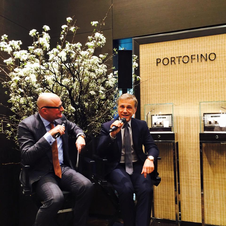 IWC CEO Georges Kern with Academy Award-winning actor Christoph Waltz at Tribeca Film Reception at IWC NY Flagship Store - April 15, 2015