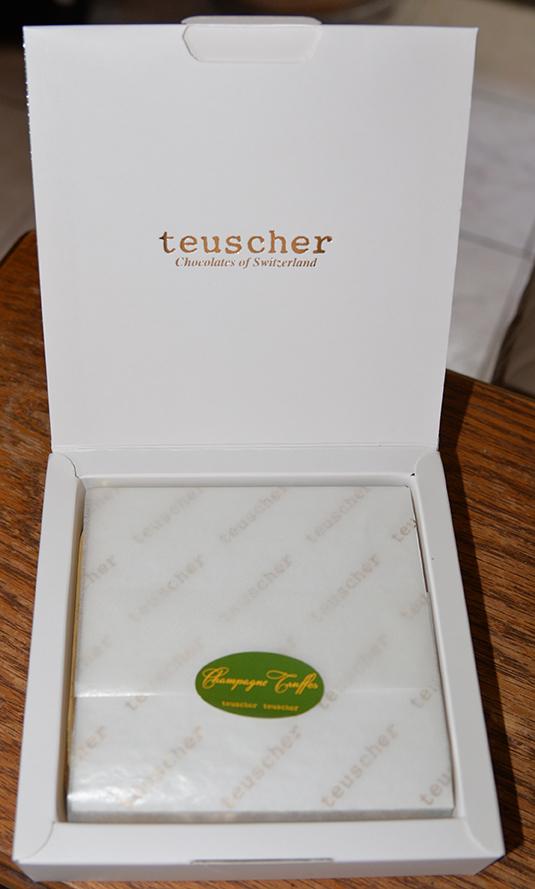 Teuscher Chocolate in IWC goodie bag