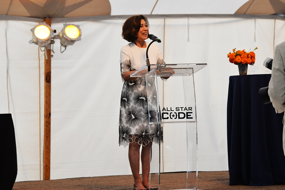 Loida Lewis at the 2nd Annual All Star Code Summer Benefit in East Hampton, July 25, 2015