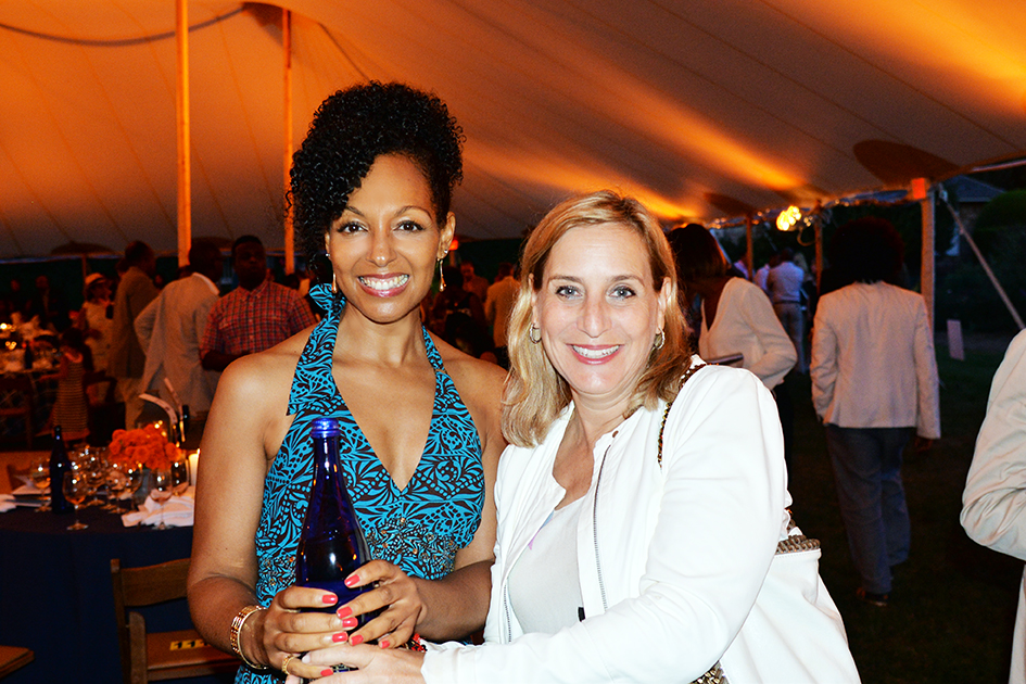 Teresa Kay-Aba Kennedy and Carol Suchman at the 2nd Annual All Star Code Summer Benefit in East Hampton, July 25, 2015