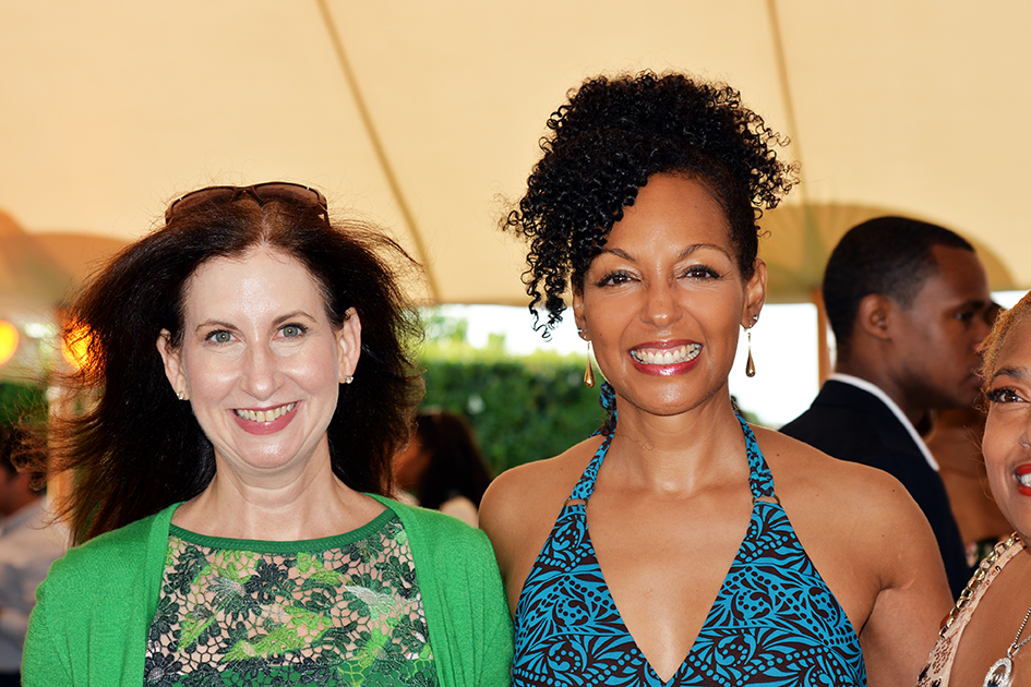 Teresa Kay-Aba Kennedy and other guest at the 2nd Annual All Star Code Summer Benefit in East Hampton, July 25, 2015