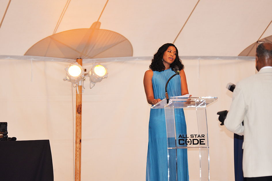 Christina Lewis Halpern at the 2nd Annual All Star Code Summer Benefit in East Hampton, July 25, 2015