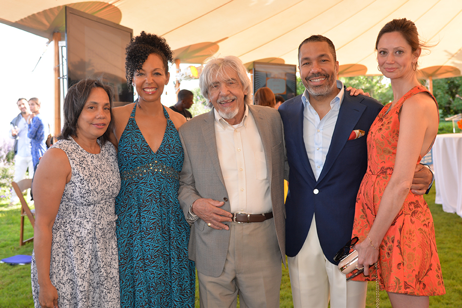 Teresa Kay-Aba Kennedy and Carlottis at the 2nd Annual All Star Code Summer Benefit in East Hampton, July 25, 2015