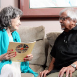96-year-old Tao Porchon-Lynch and 81-year-old Arun Gandhi, July 9, 2015