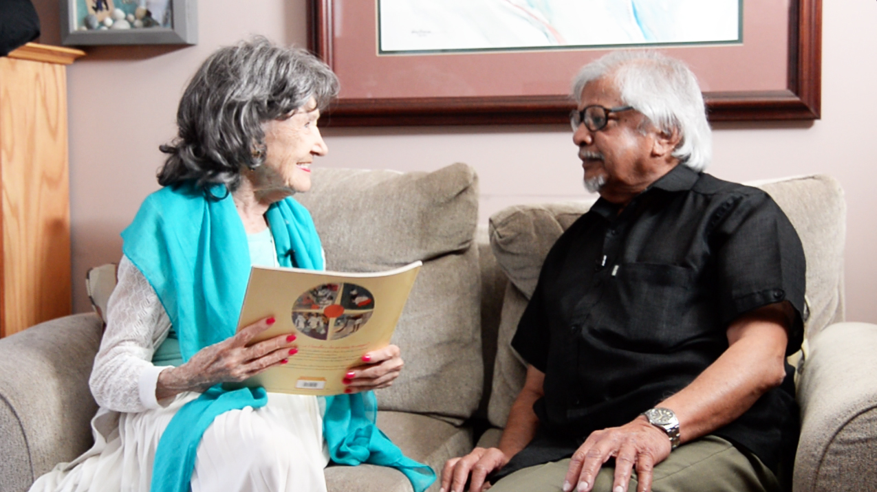 Tao Porchon-Lynch and Arun Gandhi, July 9, 2015