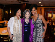Janie Sykes-Kennedy, Tao Porchon-Lynch and Teresa Kay-Aba Kennedy at Tao's 97th birthday party