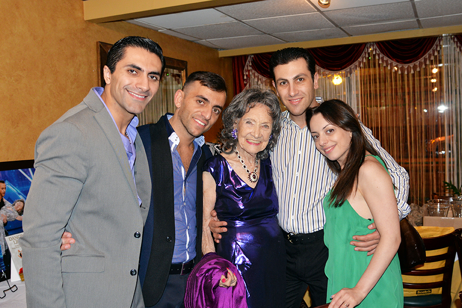 Tao Porchon-Lynch and her Fred Astaire dance partners at her 97th Birthday Party, August 9, 2015