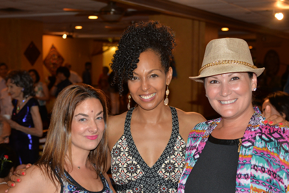Danielle Lombardo, Teresa Kay-Aba Kennedy and Joanna Rajendran at Tao Porchon-Lynch 97th Birthday Party, August 9, 2015