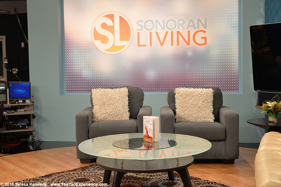 Dancing Light on the set of Sonaran Living Live ABC15 in Phoenix, Arizona - September 25th, 2015