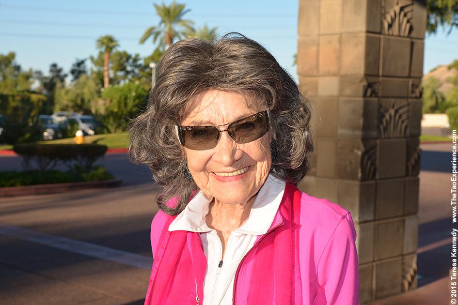 97-year-old Tao Porchon-Lynch at the Arizona Biltmore Resort in Phoenix, Arizona - September 25th, 2015