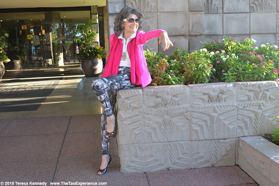 97-year-old yoga master Tao Porchon-Lynch at the Arizona Biltmore Resort in Phoenix, Arizona - September, 25th, 2015