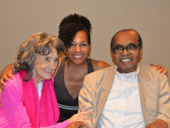 97-year-old Tao Porchon-Lynch, Teresa Kay-Aba Kennedy and 114-year-old Bernando LaPallo, in Phoenix, AZ - September 25, 2015