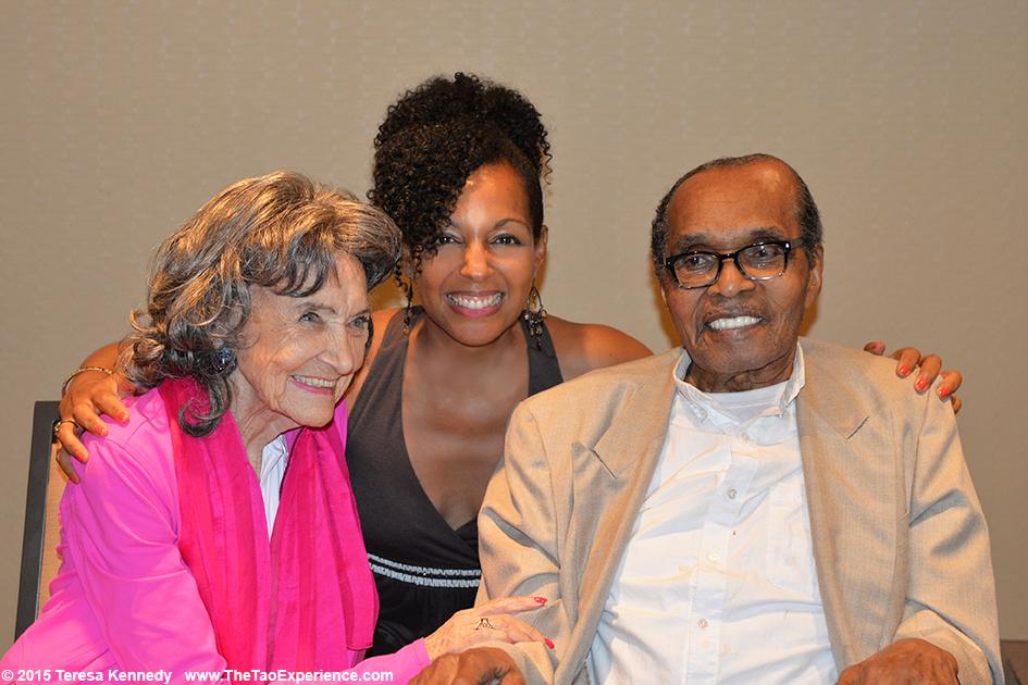 97-year-old Tao Porchon-Lynch, Teresa Kay-Aba Kennedy and 114-year-old Bernando LaPallo, in Phoenix, AZ - September 25, 2015