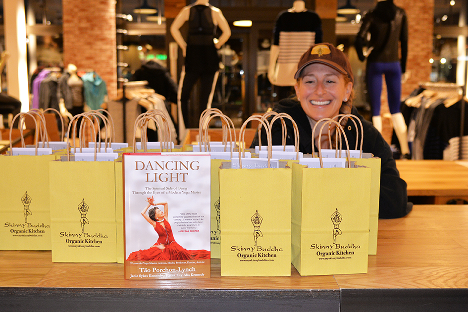 Food at Dancing Light book launch event at Athleta store in Scarsdale, September 17, 2015
