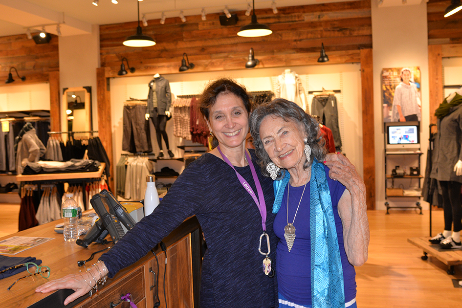 97-year-old yoga master Tao Porchon-Lynch at Dancing Light book launch event at Athleta store in Scarsdale, September 17, 2015