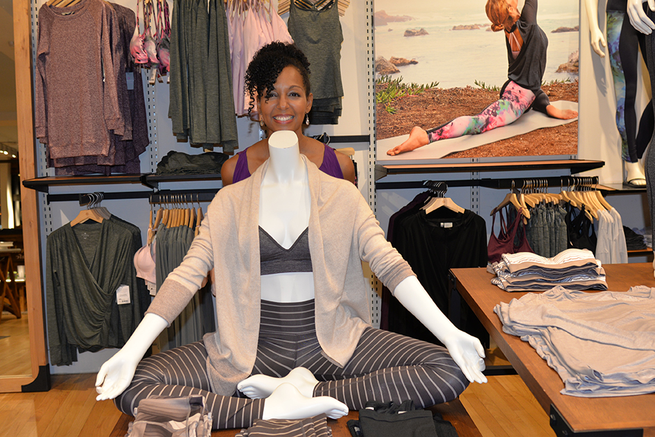 Teresa Kay-Aba Kennedy at Dancing Light book launch event at Athleta store in Scarsdale, September 17, 2015