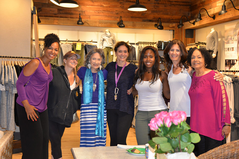 Dancing Light book launch event at Athleta store in Scarsdale, September 17, 2015