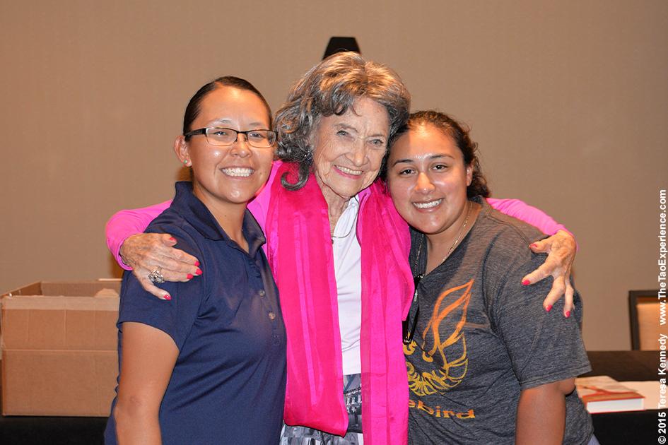 97-year-old yoga master Tao Porchon-Lynch at 4th Annual Senior Awards in Phoenix, Arizona - September 25, 2015