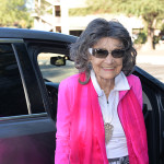 97-year-old yoga master Tao Porchon-Lynch arriving at ABC15, September 25th, 2015