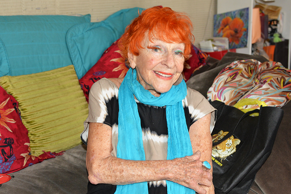 95-year-old Artist Ilona Royce-Smithkin, October 24, 2015