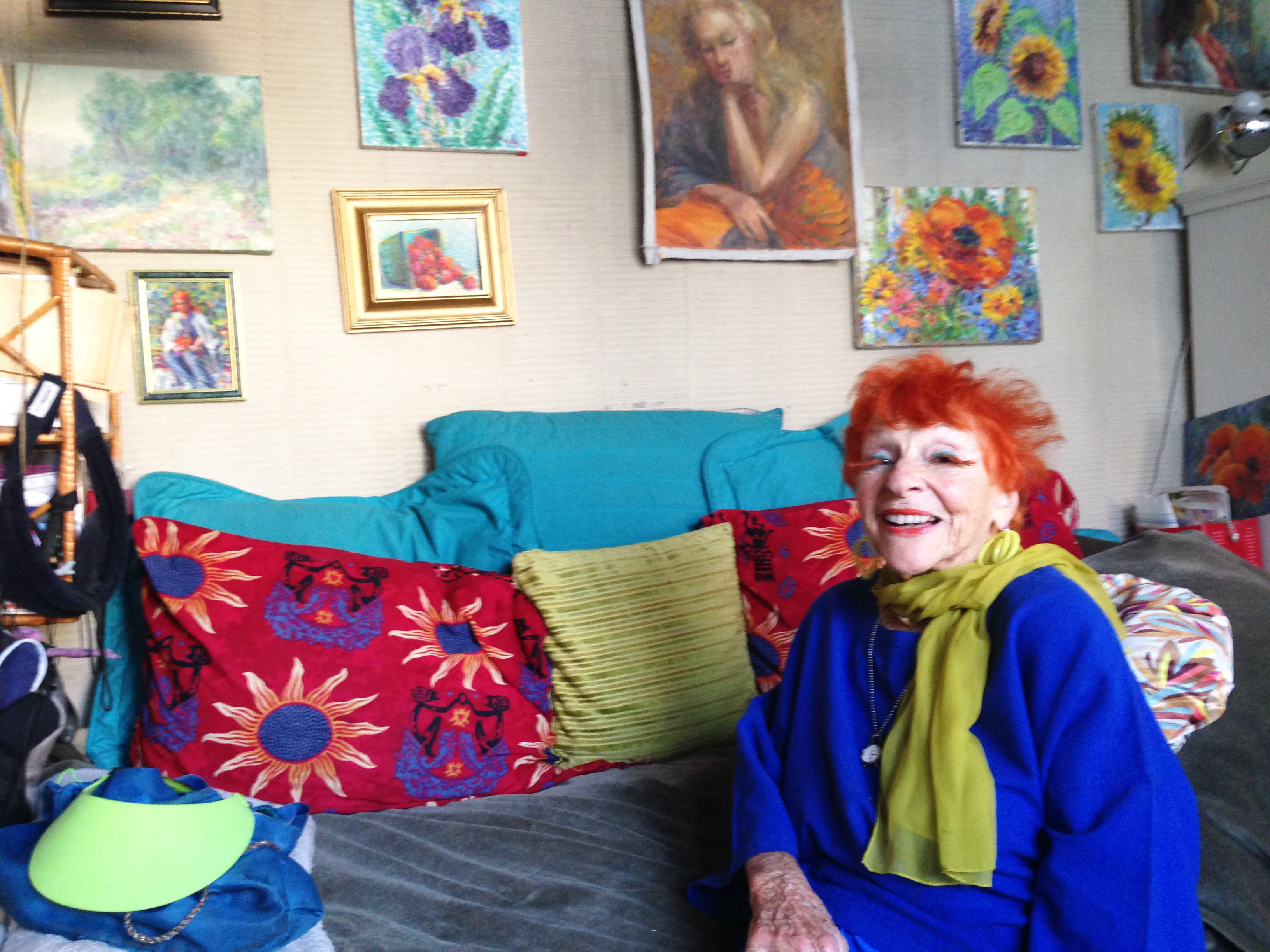 95-year-old Artist Ilona Royce-Smithkin, October 21, 2015