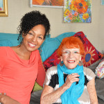 Teresa Kay-Aba Kennedy and 95-year-old Artist Ilona Royce-Smithkin, October 25, 2015