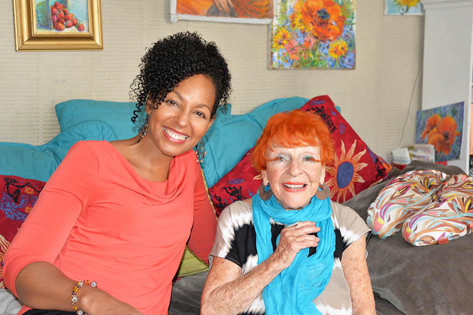 Teresa Kay-Aba Kennedy and 95-year-old Artist Ilona Royce-Smithkin, October 24, 2015