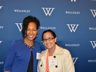 Wellesley Alums Teresa Kay-Aba Kennedy ('88) and Ana Ramos ('12) at Wellesley Club of NY 125th Anniversary Event - November 14, 2015