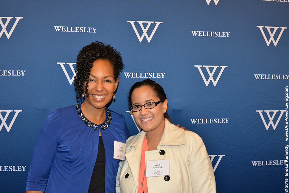 Wellesley Alums Teresa Kay-Aba Kennedy ('88) and Ana Ramos ('12) at New York Wellesley Club 125th Anniversary Event - November 14, 2015