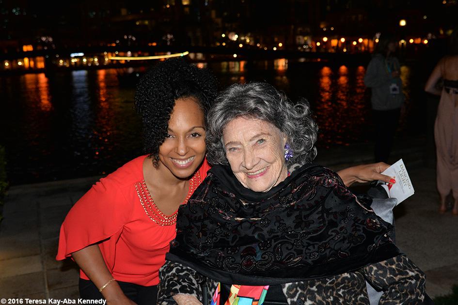 Teresa Kay-Aba Kennedy with 97-year-old yoga master Tao Porchon-Lynch in Dubai - February 19, 2016