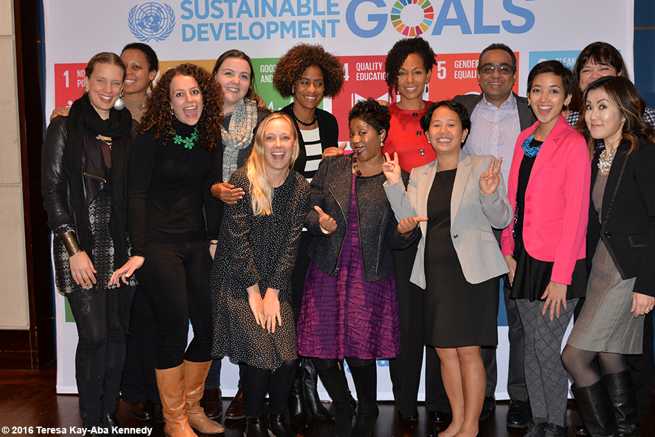 Teresa Kay-Aba Kennedy and other presenters at the Womensphere Global Summit in New York - March 4, 2016