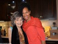97-year-old yoga master Tao Porchon-Lynch and Teresa Kay-Aba Kennedy at Tao's Spring Party - April 10, 2016