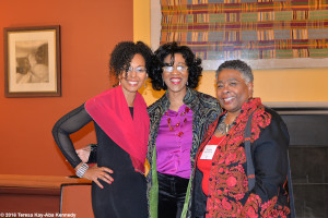 Teresa Kay-Aba Kennedy, Sonia Robena Banks with fellow alum, Haramabee House at Wellesley College - April 9, 2016