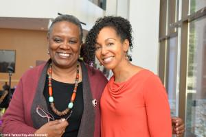 Rev. Renita J. Weems and Teresa Kay-Aba Kennedy at Harambee House Gala at Wellesley College-April 10, 2016