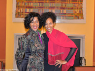 Sonia Robena Banks and Teresa Kay-Aba Kennedy at Harambee House at Wellesley College - April 9, 2016