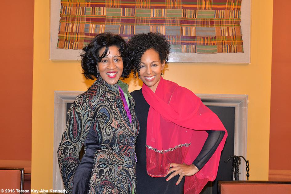 Sonia Robena Banks and Teresa Kay-Aba Kennedy at Harambee House at Wellesley College - April 9, 2016