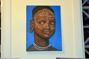 Painting in Harambee House at Wellesley College
