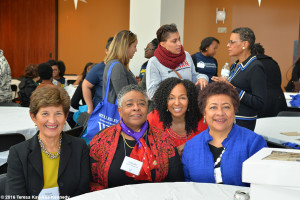 Teresa Kay-Aba Kennedy, with alums at Wellesley College for Harambee House 45th Anniversary-April 9, 2016